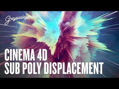 Cinema 4D Displacement Tutorial - ASKGSG - Sub Polygon Displacement Look - YouTube