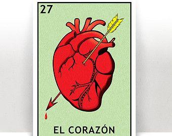 El Sol Lotería The Sun Mexican Bingo Art by PrintableAndAwesome