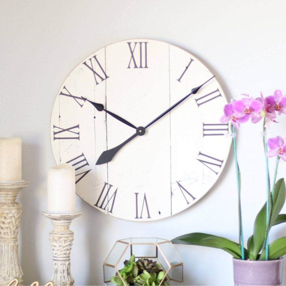 Clock Wall Decor 40 best wall clock images on pinterest | barn wood, large wall