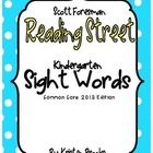 This sight word pack is for the 2013 Common Core Edition of the Scott Foresman Reading Street.  Included:  - Sight Word List (of all 40 sight words...