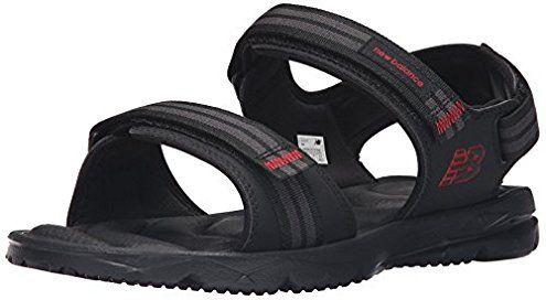 New Balance Men's Rev Plush2O Rafter Sandal, Black, 9 D US
