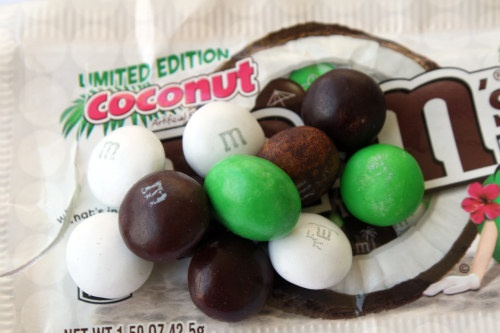 Limited Edition coconononut M's. Good find at the grocery store!