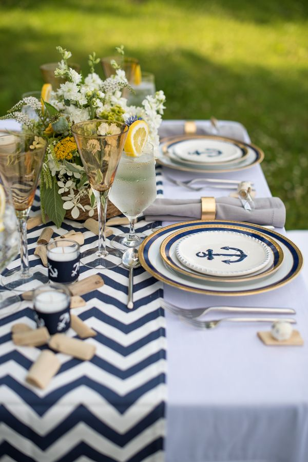 Nautical wedding inspiration loved by www.youmakemydreams.co.uk