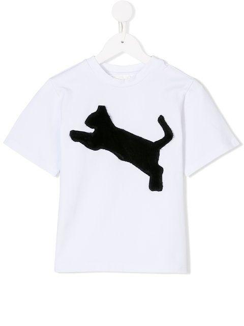 Caroline Bosmans cat motif T-shirt