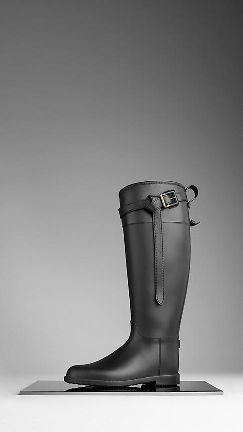 Burberry Equestrian weather boots.   Let it rain.