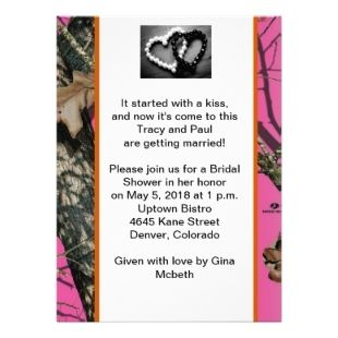 Barbie Bridal Shower Invitations | Mossy Oak Wedding Invitations  Http://weddinginvitations4u.net