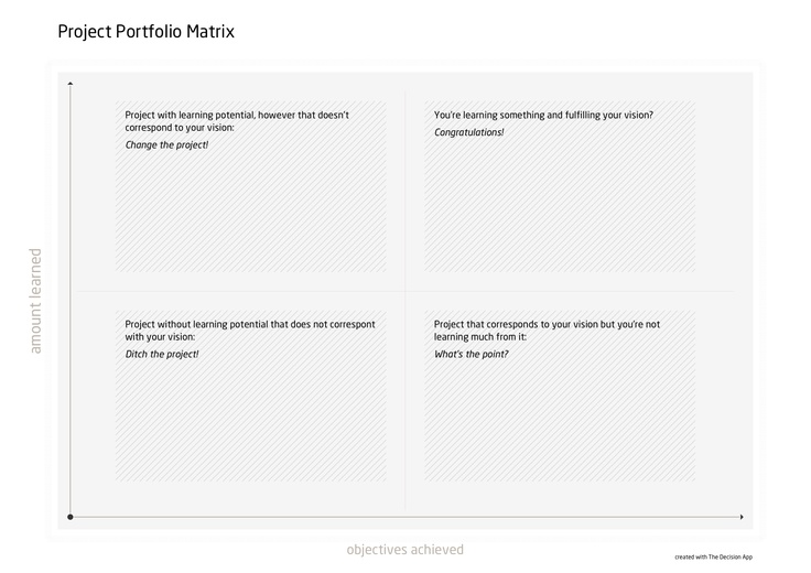Project Portfolio Matrix