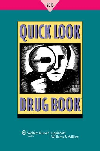 Quick Look Drug Book 2013 by Leonard L. Lance. Save 3 Off!. $40.90. Publisher: Lippincott Williams & Wilkins; 1 Pap/Psc edition (December 4, 2012). Edition - 1 Pap/Psc. Publication: December 4, 2012