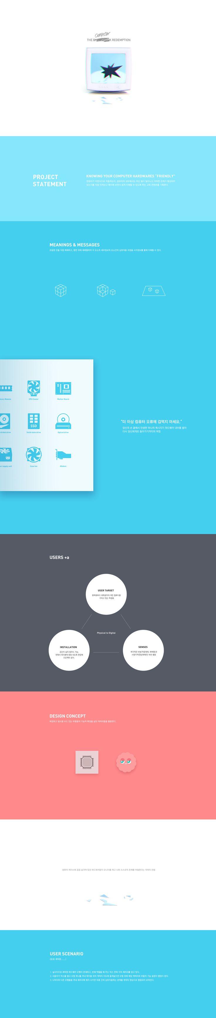 Cho Eunsaem - The Computer Redemption (behance)   Information Visualization 2016   Major in Digital Media Design   #hicoda   hicoda.hongik.ac.kr