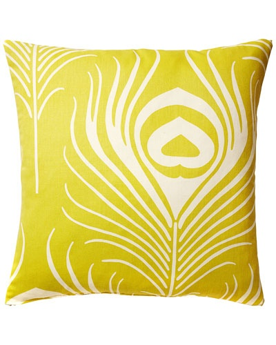 Frog Hill Designs 'Yellow Peacock' Decorative Pillow