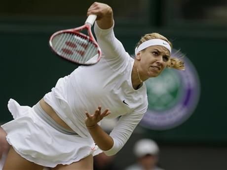 FILE - In this July 1, 2013 file photo, Sabine Lisicki of Germany serves to Serena Williams of the United States in a Women's singles match at the All England Lawn Tennis Championships in Wimbledon, London. (AP Photo/Alastair Grant, File) ▼30Jul2014AP|WTA: Lisicki hit record 131 mph (211 kph) serve http://bigstory.ap.org/article/wta-lisicki-hit-record-131-mph-211-kph-serve #Sabine_Lisicki