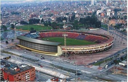 Estadio Nemesio Camacho el Campin - Bogotá, sobre la AV carrera 30.
