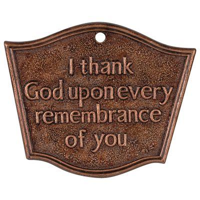 Religious Memorial Garden Stake   I Thank God