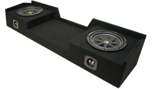 "ASC Package Chevy Silverado 99-06 Extended Cab Truck Dual 10"" Kicker C10 Subwoofer Sub Box Enclosure 600 Watts Peak"