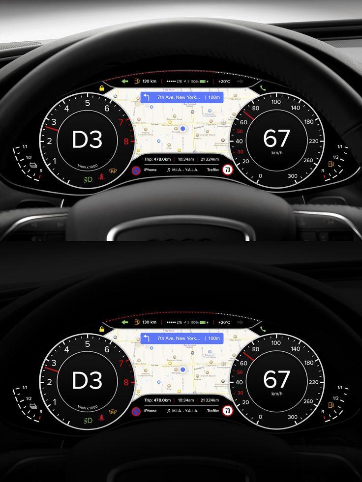 Car Dashboard UI by Michael Dolejš