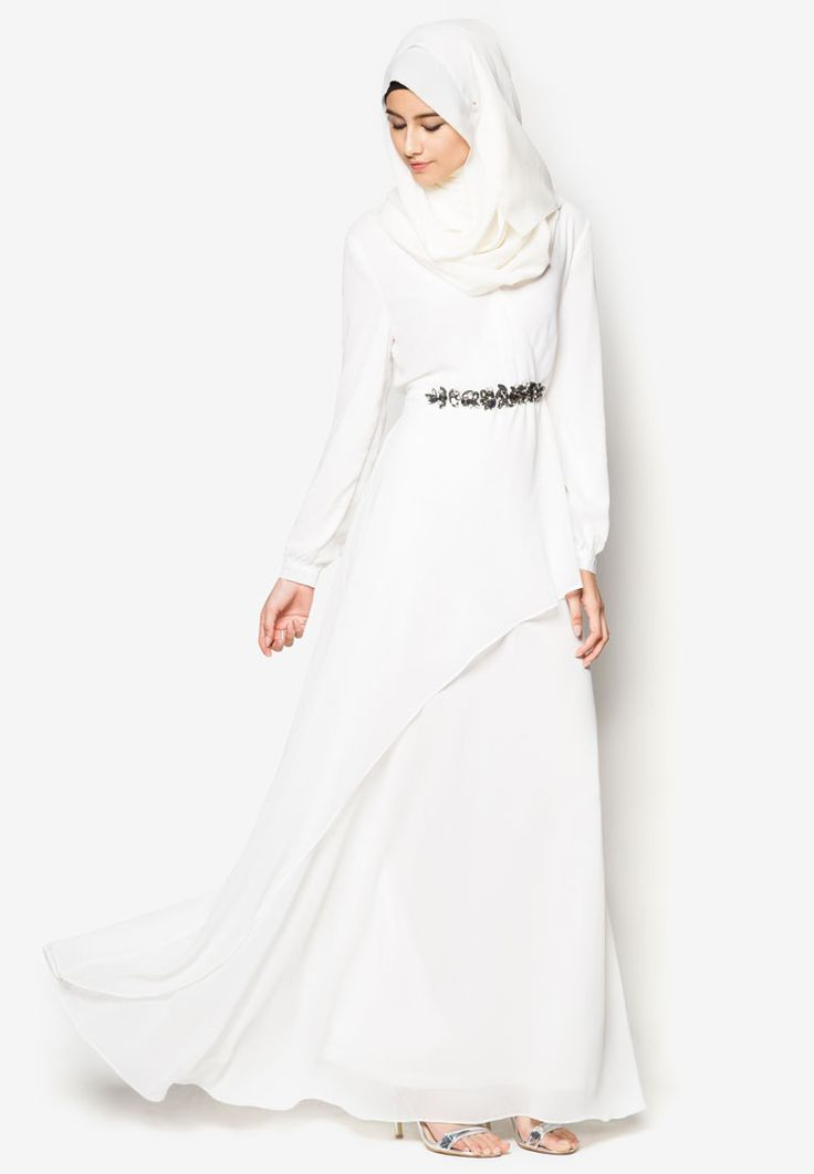 Zalia Embellished Chiffon Dress / Probably only available for Southeast Asian countries like Singapore, Malaysia, Brunei and Indonesia. Check respective stores. | ZALORA Singapore