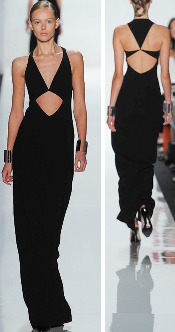 Michael Kors Spring 2013 :: front & back of the same dress