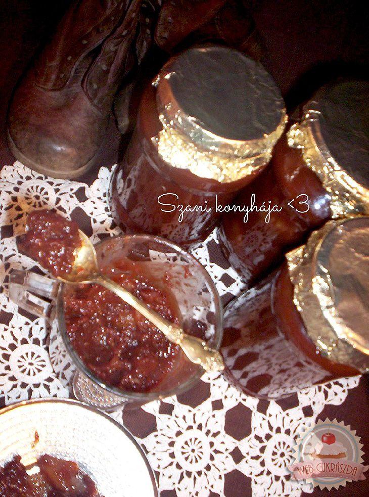 Csokoládés körtedzsem