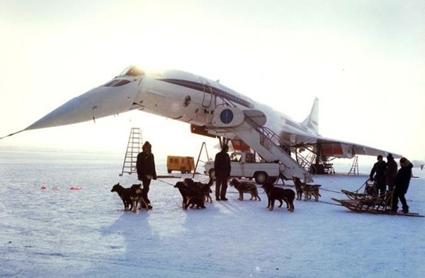 Concorde in the snow
