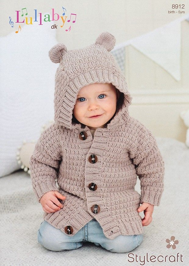 158 best toddler free hoodie knitting patterns images on pinterest childrens hoodie in stylecraft lullaby dk dt1010fo