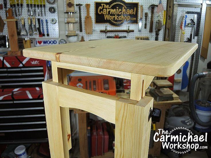The Carmichael Workshop: Adjustable Laptop Stand, Snack Table, Or Bedside  Desk