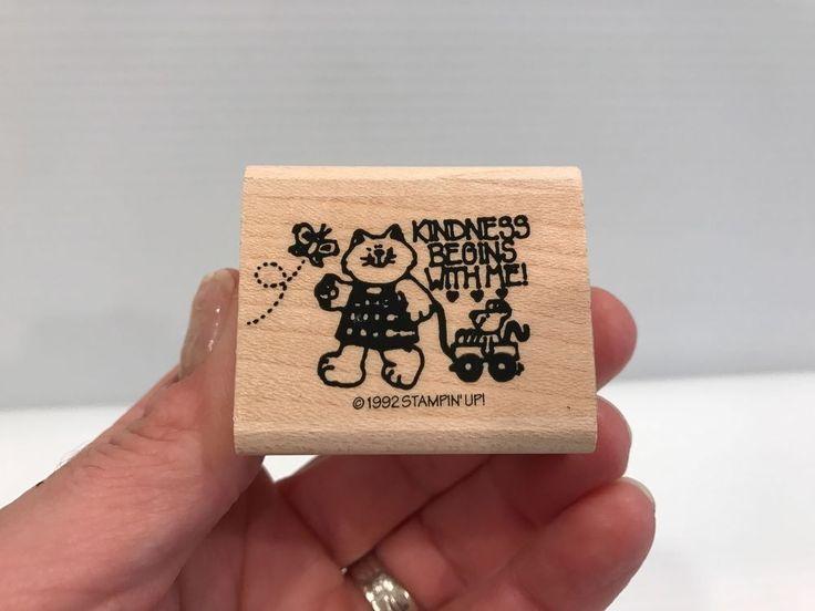 CAT STAMP, Kindness Begins with Me stamp, Scrapbook stamp, Stampin' Up, cute #StampinUp