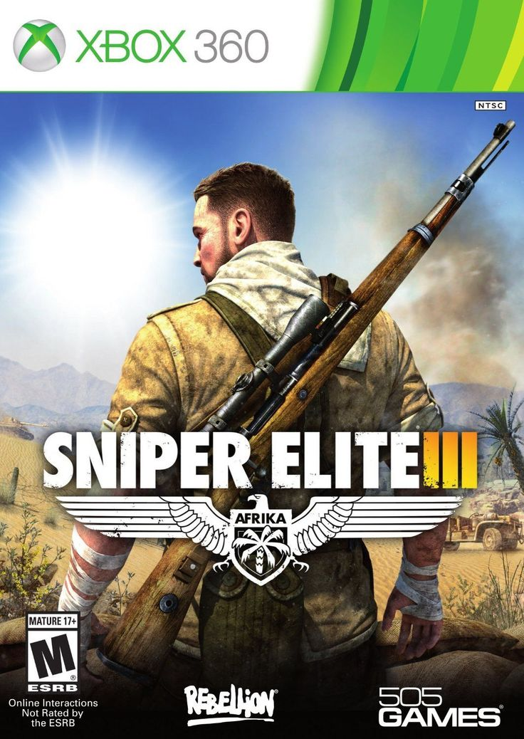 Sniper Elite III Xbox 360 Physical Game Disc US