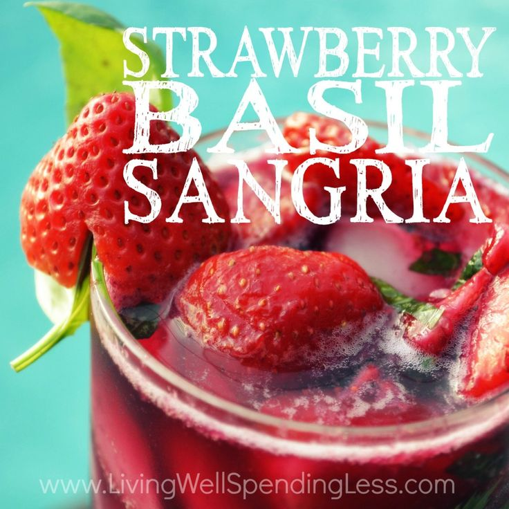 Strawberry Basil Sangria Square...my Herb Garden has fresh Basil and my strawberry patch is ripe! I made this wonderful recipe with white wine and lemonade . I also made it with red wine and OJ . Both very good!!
