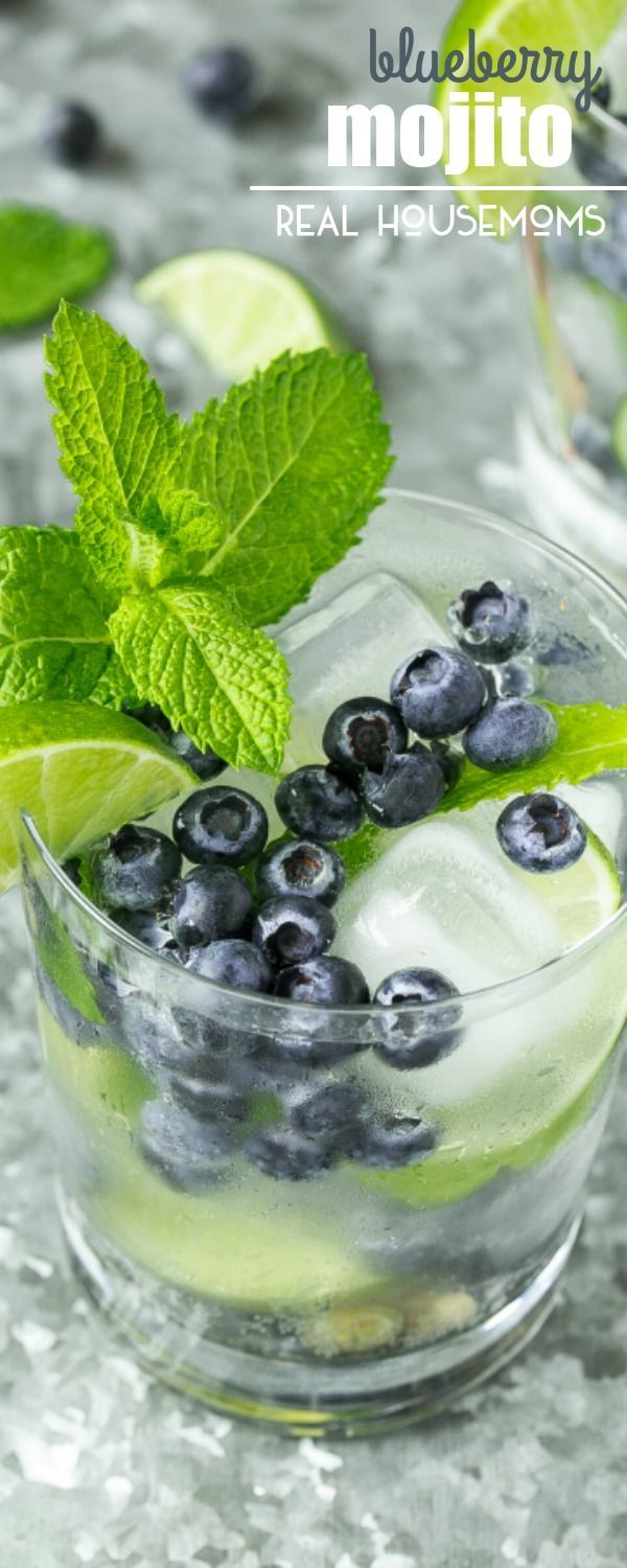 These BLUEBERRY MOJITOS are a light and refreshing summer drink that are so easy to put together - perfect for any party or casual gathering!