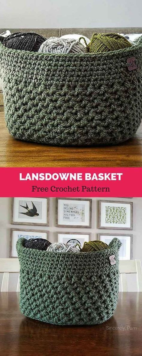 Lansdowne Basket [ FREE CROCHET PATTERN | Crochet | Pinterest ...