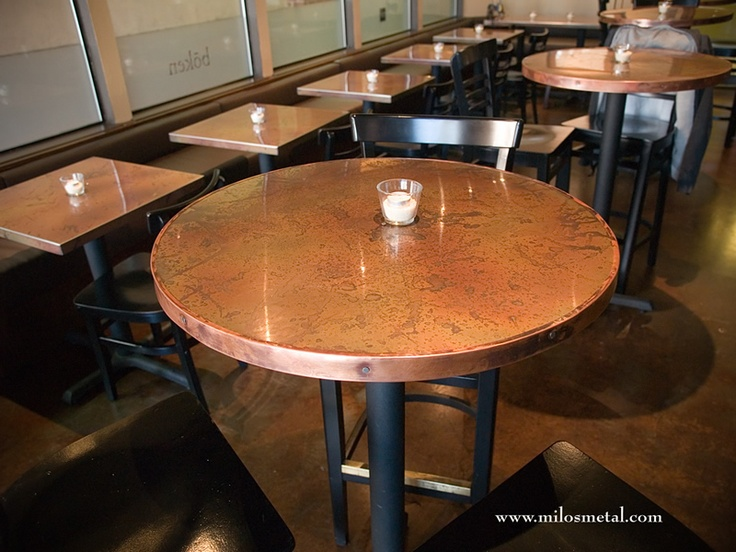 11 best copper table images on pinterest copper table diner