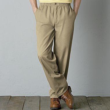 Jcpennys Towncraft Flat Front Elastic Waist Pants Pants
