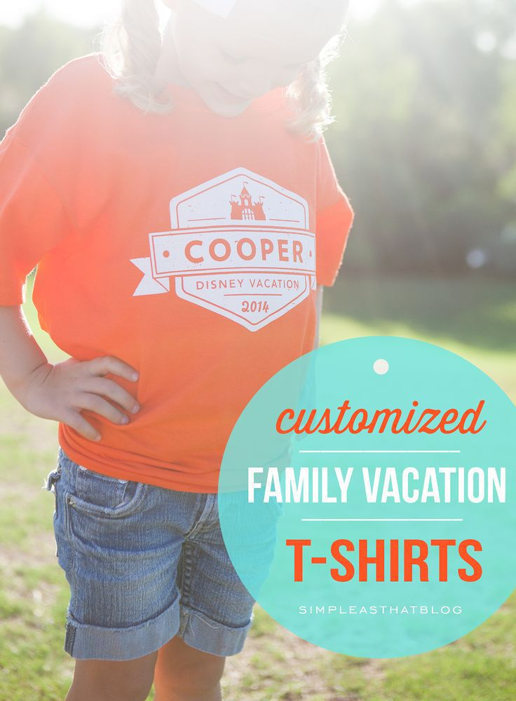 Retro logo Family T-Shirts for your next Disney Vacation