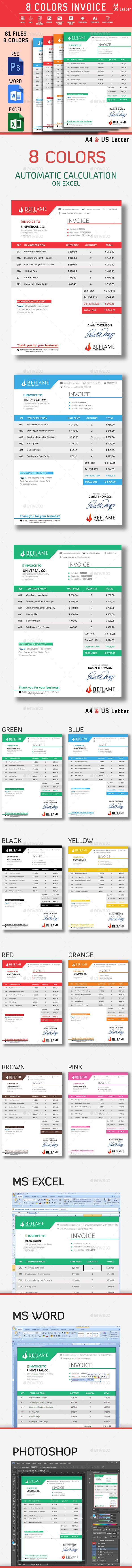 Invoice Page 22 Best Invoice Design  Invoice Template  Invoice In Graphics .