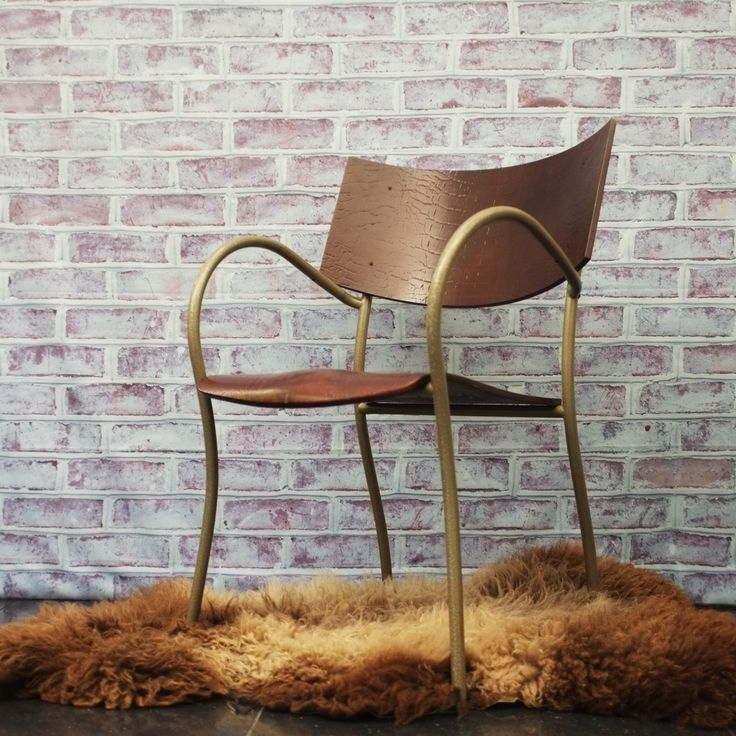 rare 1980s philippe starck chair steel framed with unusual pressed ply embossed seat and back - Fantastisch Tolles Dekoration Philipp Starck Stuhl