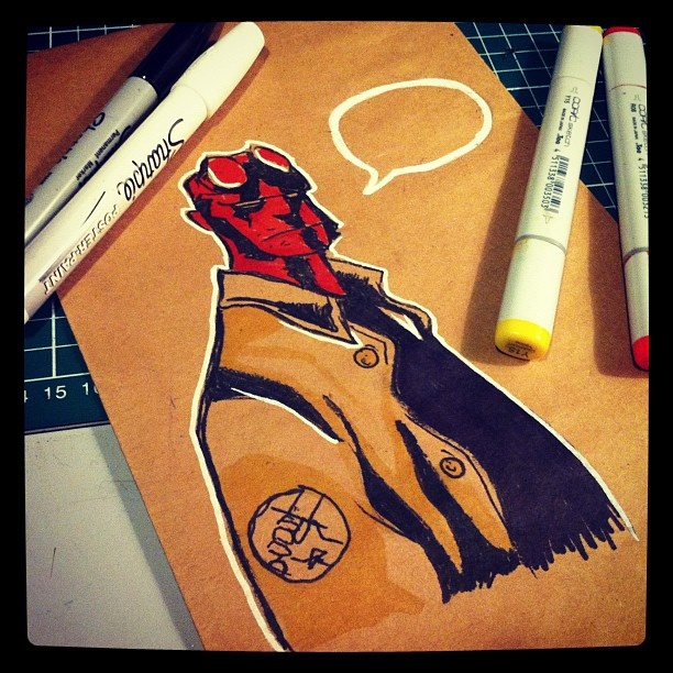 Hellboy fanart by kuroba, via Flickr