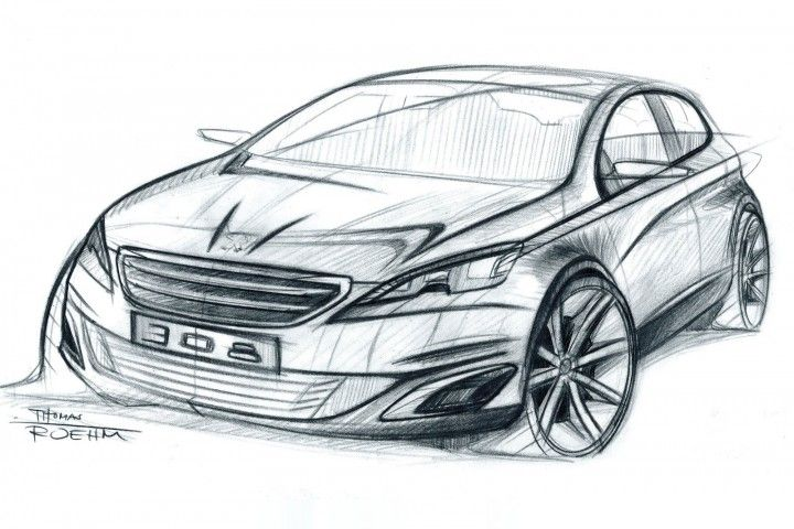 Peugeot 308 Design Sketch by designer Thomas Rohm