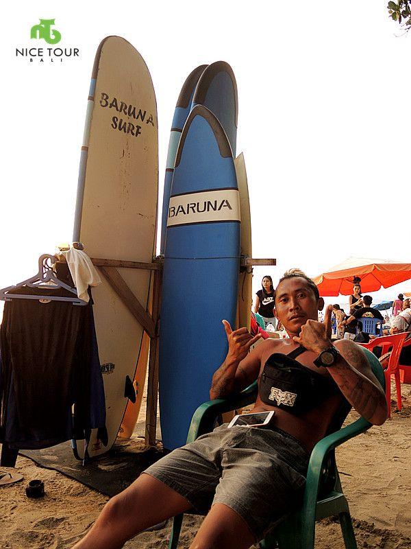 kuta beach surfing tour with intructor