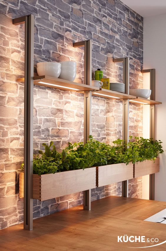 Kitchen herb love in white concrete