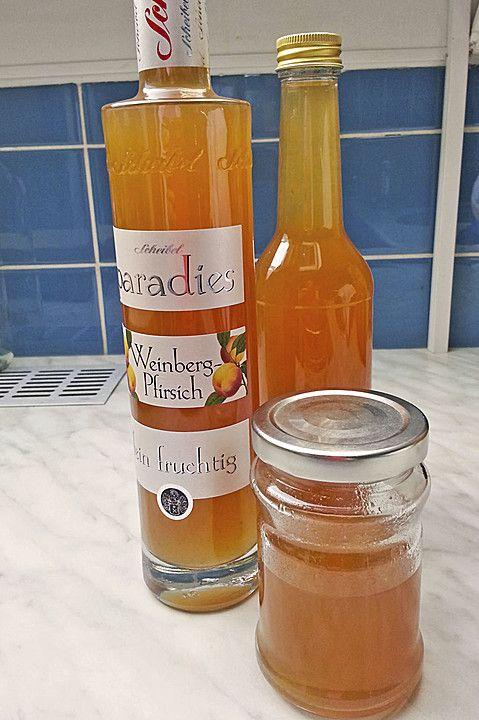 Pfirsichlikör, ein gutes Rezept mit Bild aus der Kategorie Obst. 7 Bewertungen …   – Likör