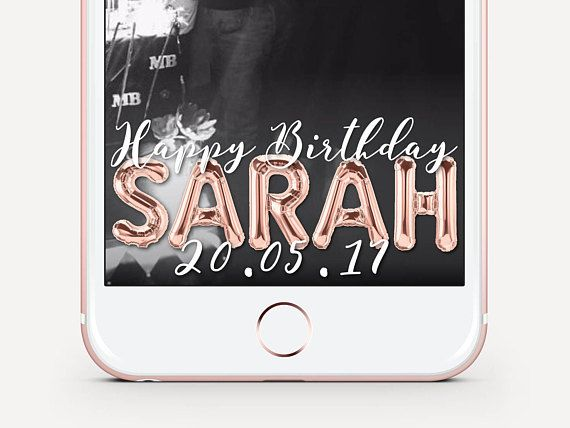 Rose Gold Foil Balloon Birthday Snapchat Geofilter! This Rose Gold Balloon Geofilter is personalised with any name made out of rose gold balloons. Birthday Party custom on demand Snapchat Geofilter. This can be customised for any event! All text and colours are easily changed, just send me a message and we can discuss this further. Please read through the product listing. *Your customised filter will be ready in 24 hours, Snapchat takes 2 - 4 days to approve your filter once you have…