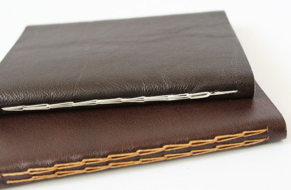 A gorgeous soft leather journal hand sewn with a wonderful decorative chain stitch. This notebook is a great size to pop into a bag or pocket,