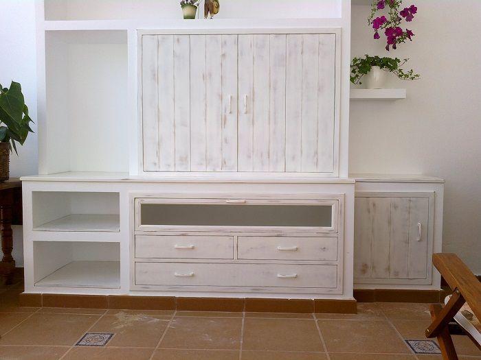 Frente decapado para mueble de obra muebles auxiliares - Muebles de pladur para salon ...