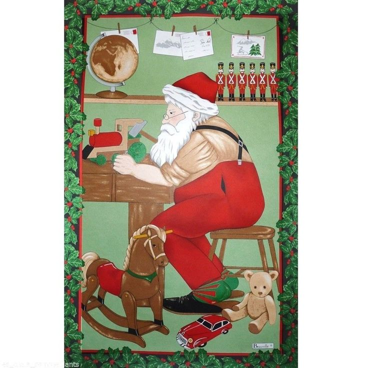 Beauville Atelier Du Pere Noel (Santa's Workshop) French Kitchen / Tea Towel
