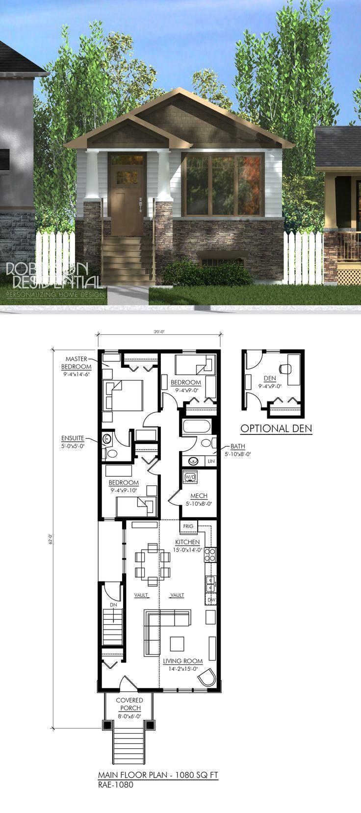 1080 sq. ft, 3 bedroom, 1.5 bath.
