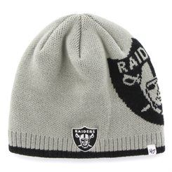 '47 Brand Oakland Raiders Gray NFL Peaks Uncuffed Knit Beanie