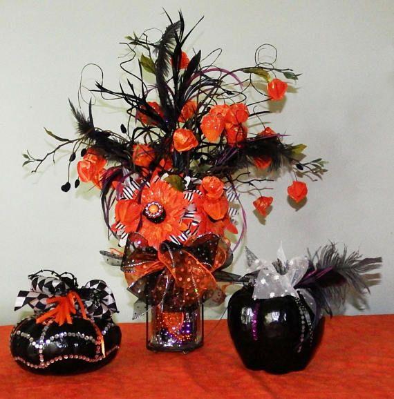 Halloween floral arrangement Halloween arrangement Fall
