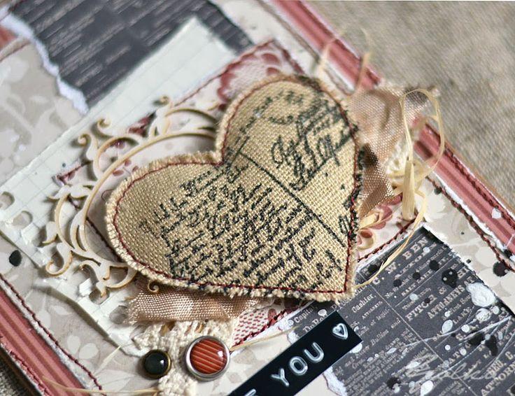 Творим вместе- скетчи: Как я это делаю: валентинка с мягким сердечком от Yolka.