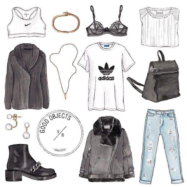Good objects - Minimal blogger looks to start the week #minimal #black #white…