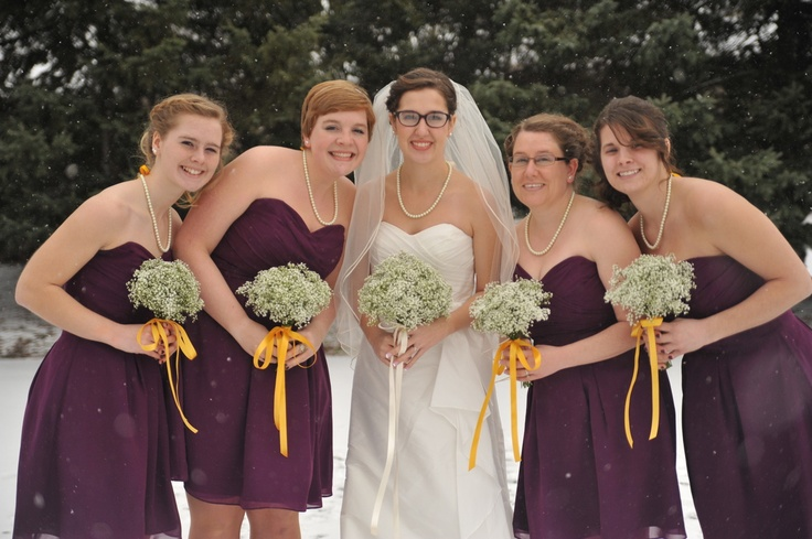 Purple with splashes of yellow for the girls! Photo Credit: Rachel Gabrielse Photography